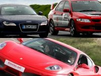Ferrari 430, Audi R8 and Rally Anytime